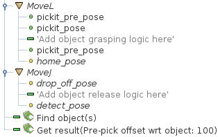 URCap example picking program — Pickit 2 1 documentation
